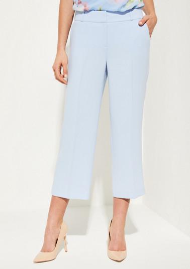 Pantalon en crêpe de longueur 3/4 de Comma