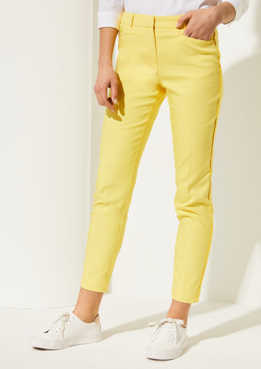 Elegant business trousers with pressed pleats from comma