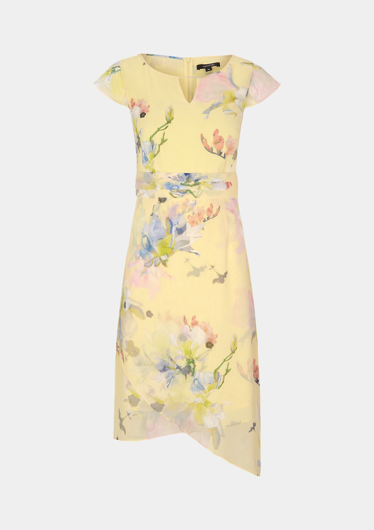 Crêpe dress with a decorative all-over print from comma