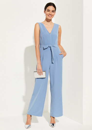 Elegant jumpsuit with a fabric belt from comma