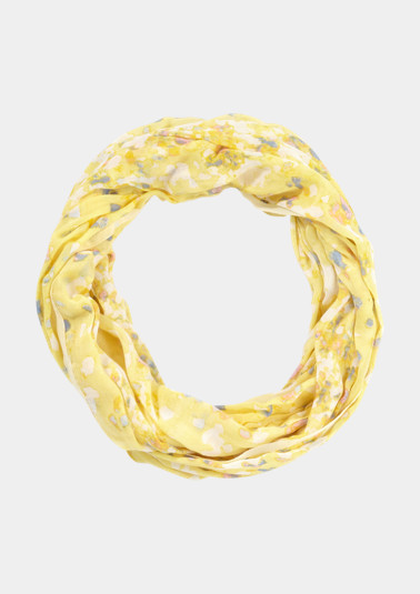 Delicate loop scarf with a fine floral pattern from comma