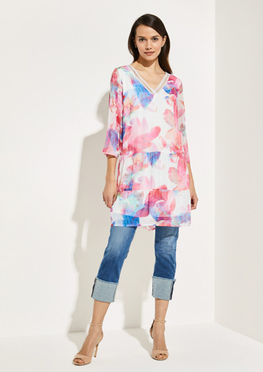 Long chiffon blouse from comma