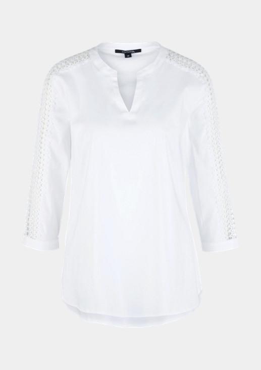 Edle 3/4-Arm Bluse mit Spitzenverzierungen