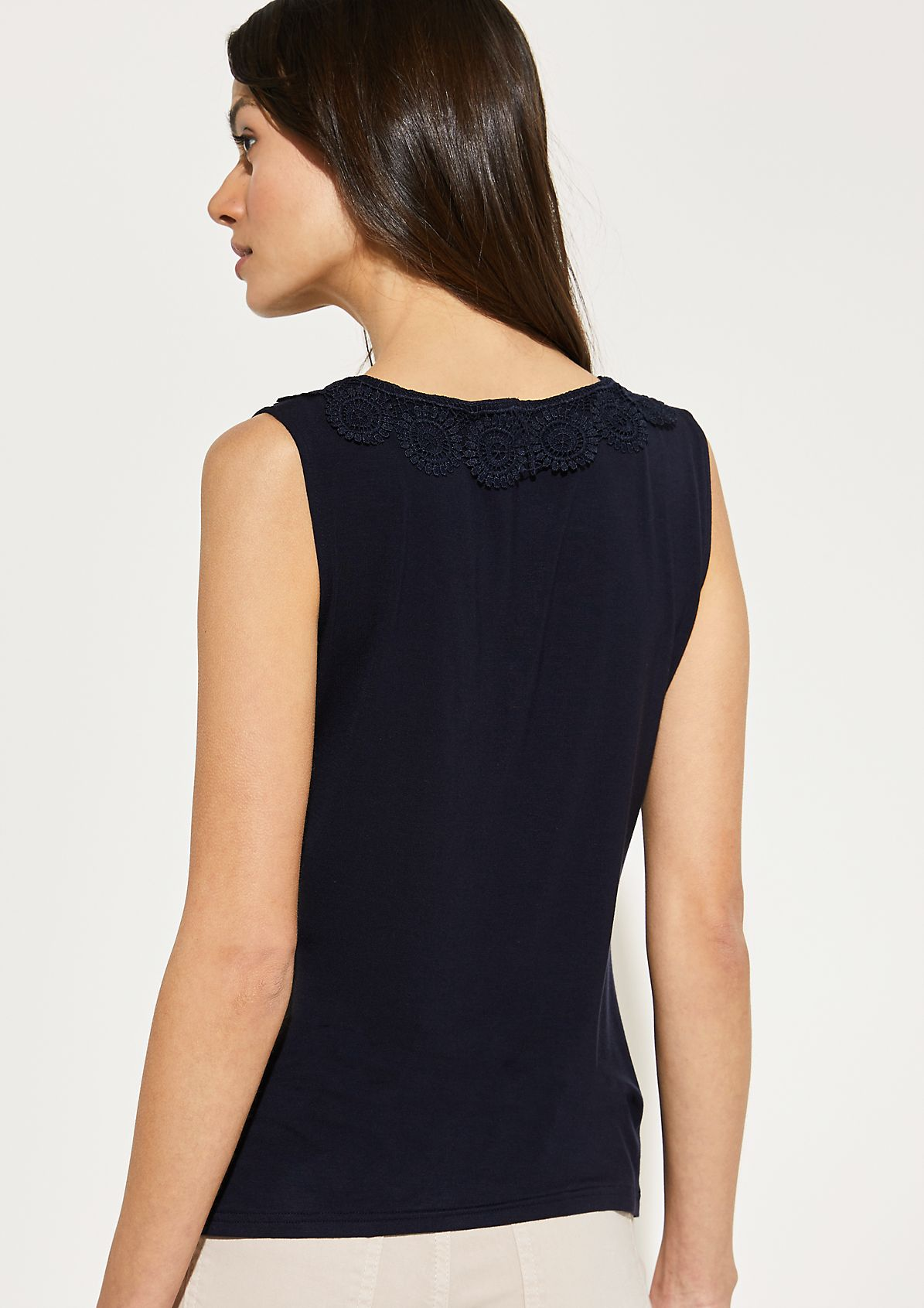 Top with delicate lace embellishments from comma