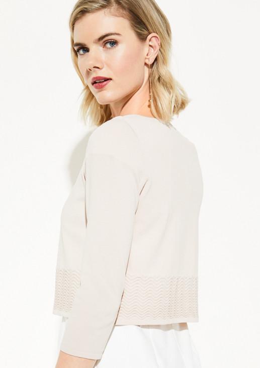 Fine knit bolero with 3/4-length sleeves from comma
