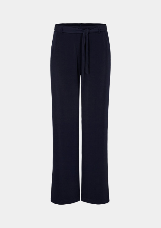 Casual trousers with a textile belt from comma