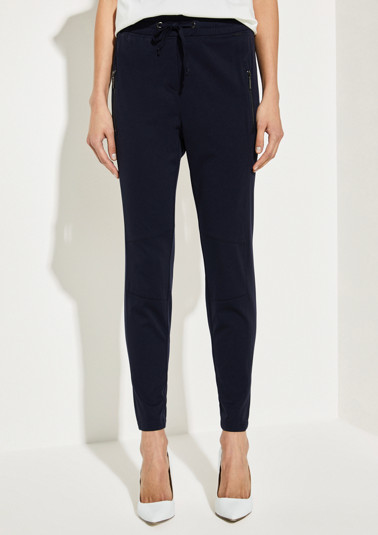 Shiny twill trousers from comma