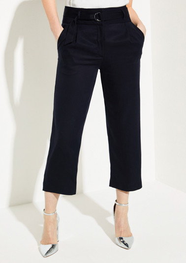 Casual 7/8-length trousers with a belt from comma