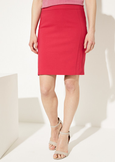 Plain coloured pencil skirt from comma