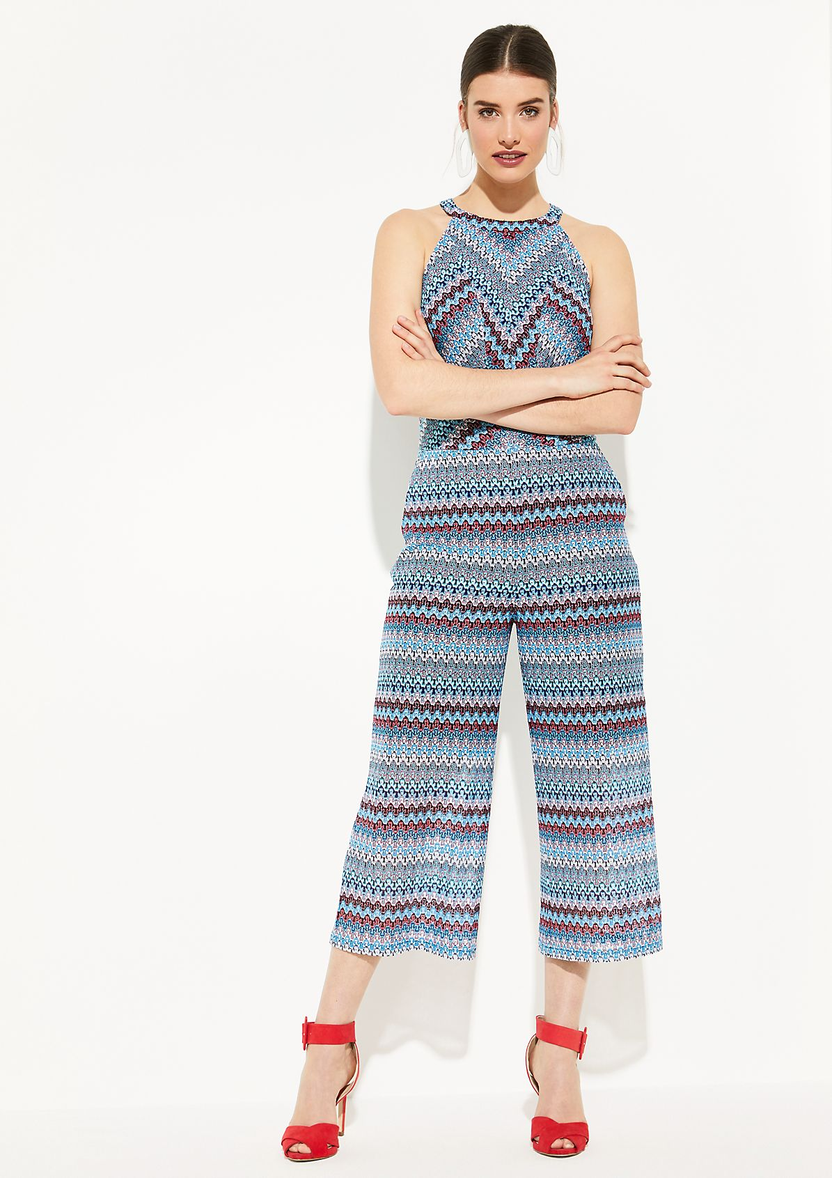 Fine knit jumpsuit with glitter threads from comma