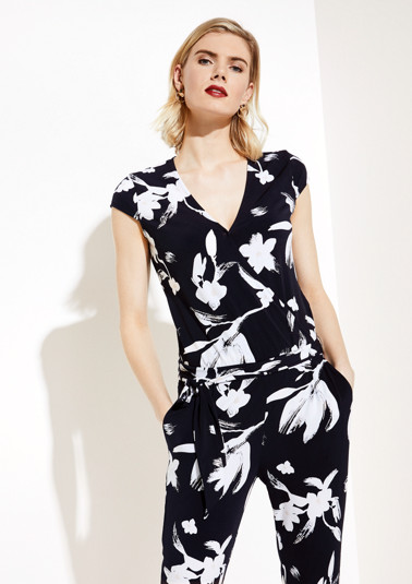 Jersey-Jumpsuit mit Floral-Alloverprint