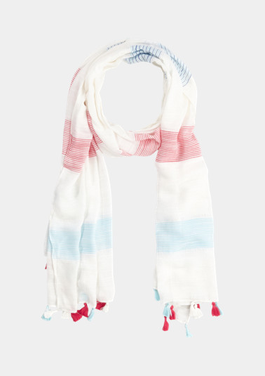 Scarf with tassel embellishments from comma