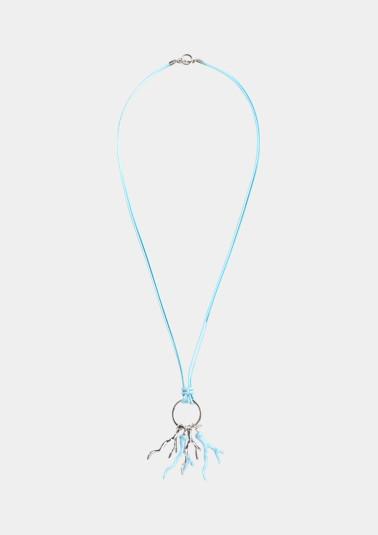 Doppelt gelegte Halskette aus Leder