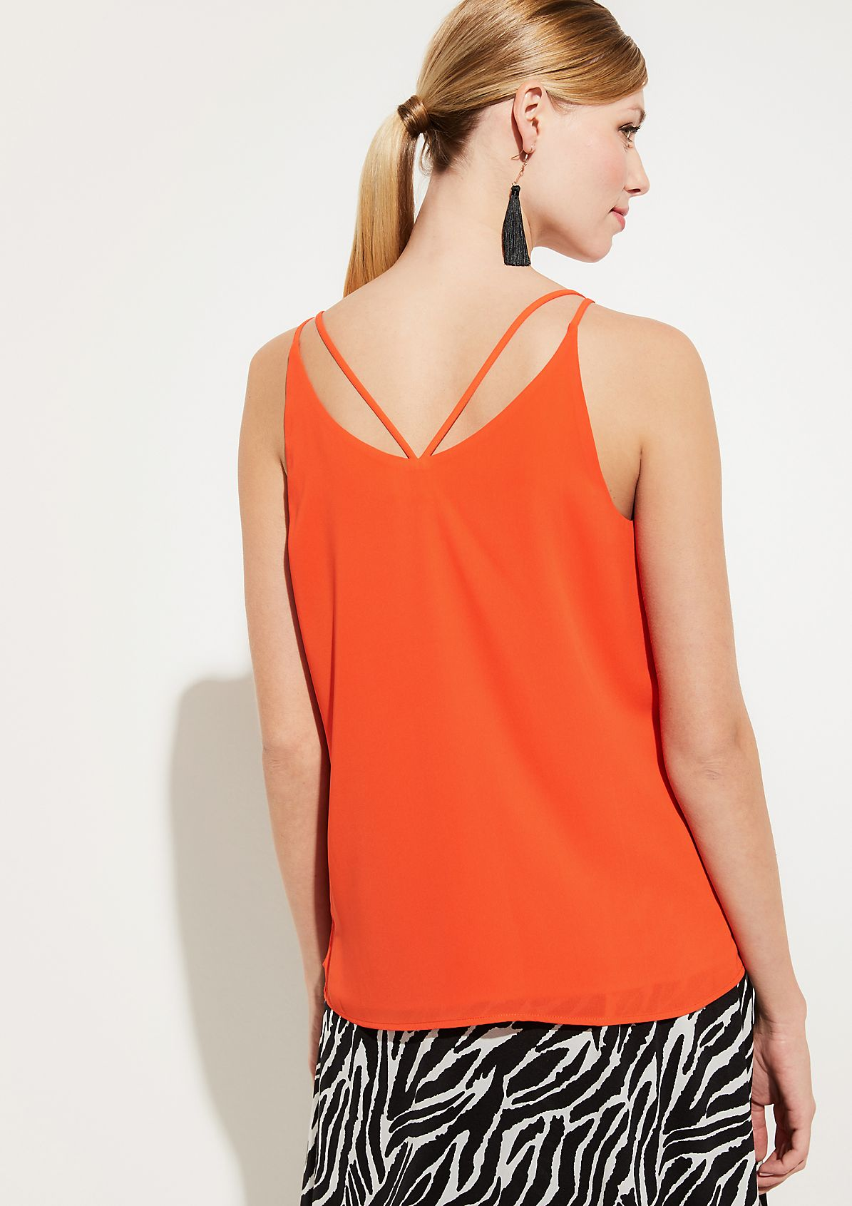 Blouse top with spaghetti straps from comma