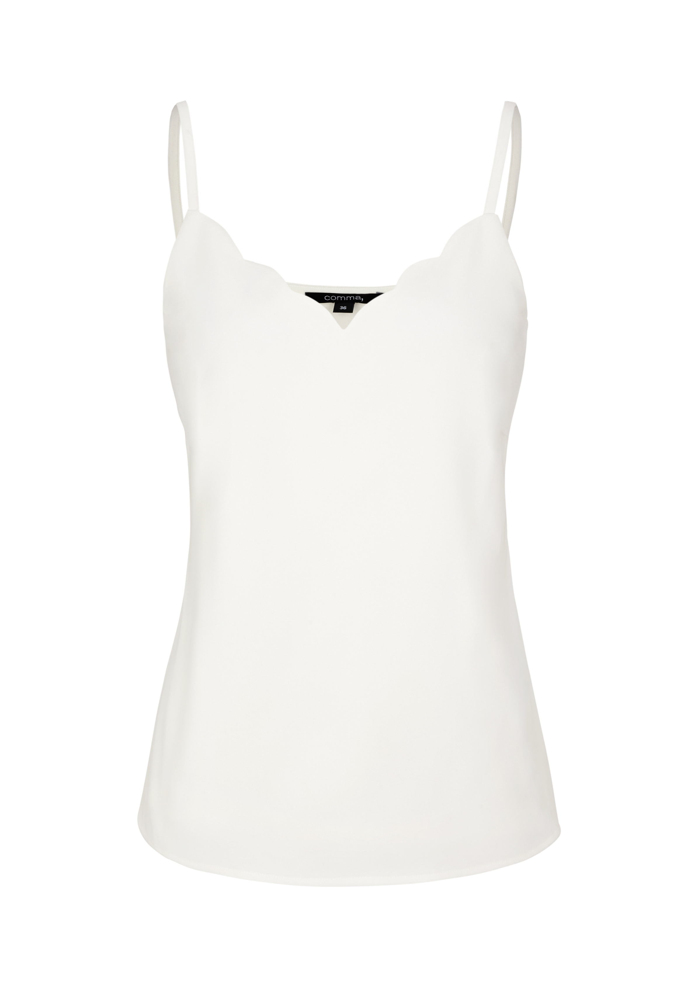 Top | Bekleidung > Tops > Sonstige Tops | Weiß | 95% polyester -  5% elasthan | comma