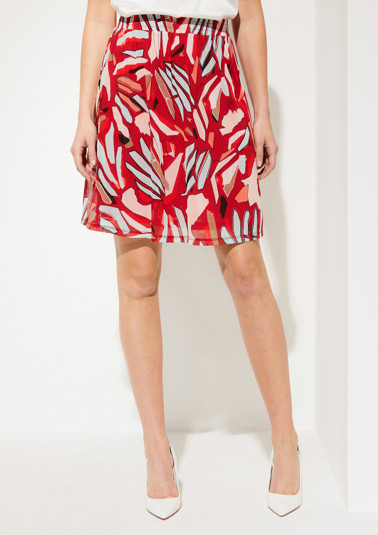 Delicate mesh skirt in an exciting mix of patterns from comma