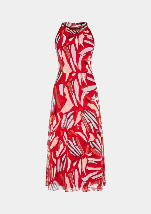 Zartes Chiffonkleid mit farbenfrohem Alloverprint