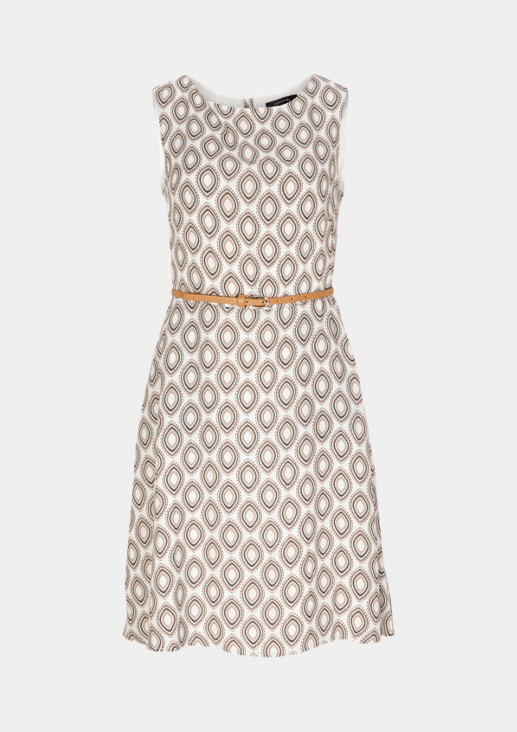 Lightweight dress with a narrow belt from comma