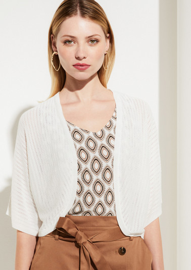 Bolero jacket with short sleeves from comma