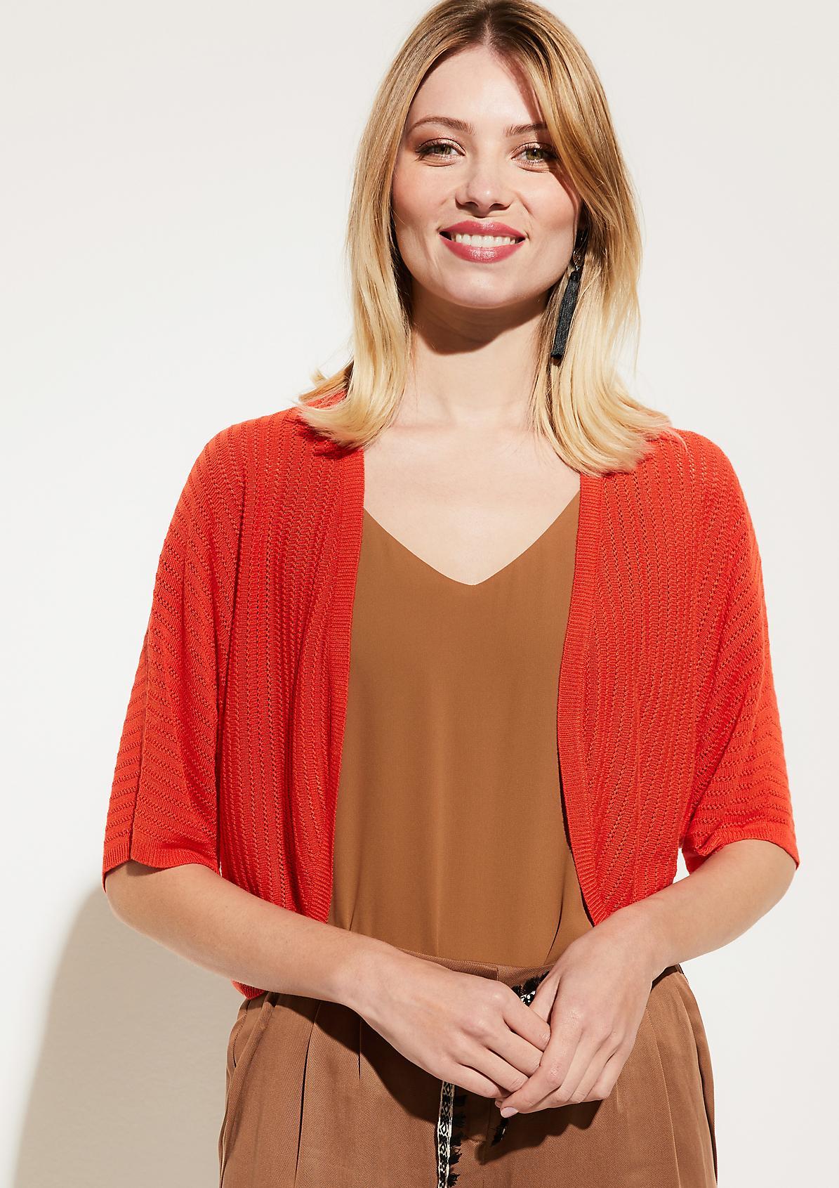 Bolero jacket with short sleeves from comma