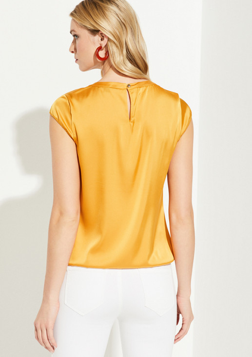 Satin blouse with charming details from comma