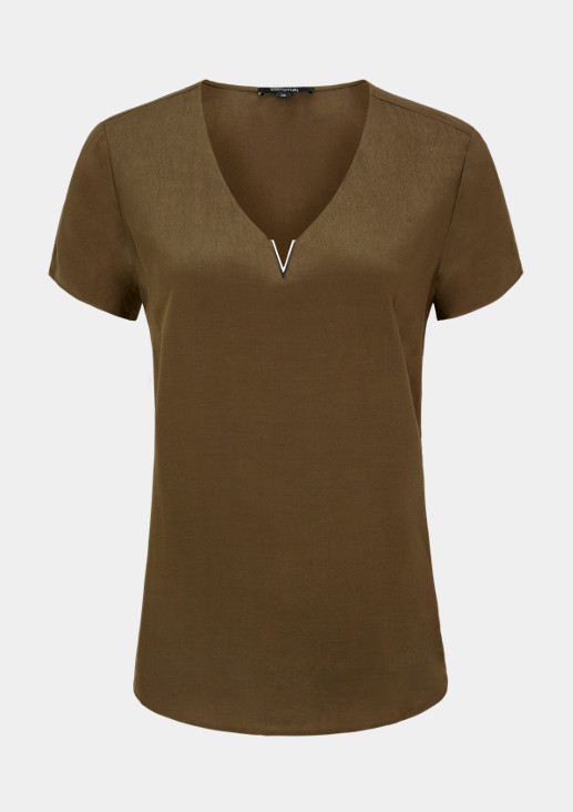 Crêpe blouse with decorative details from comma