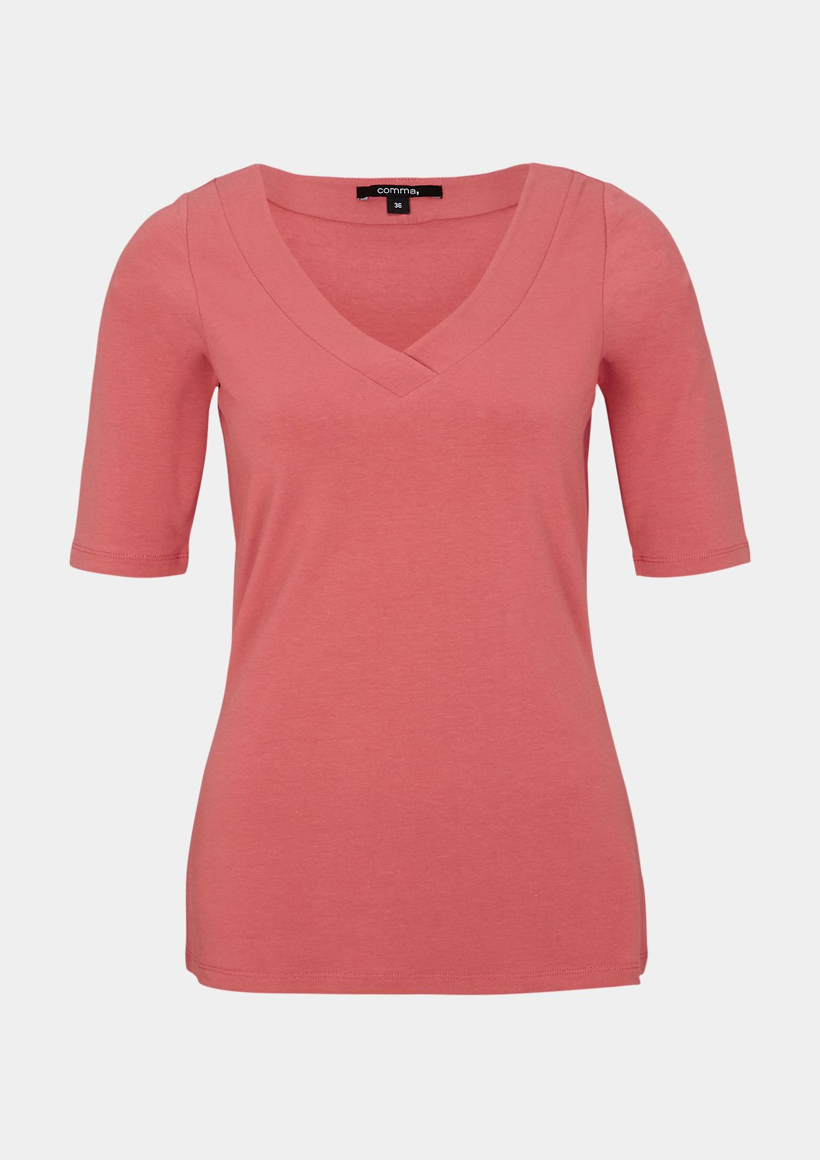 Jerseyshirt mit V-Ausschnitt