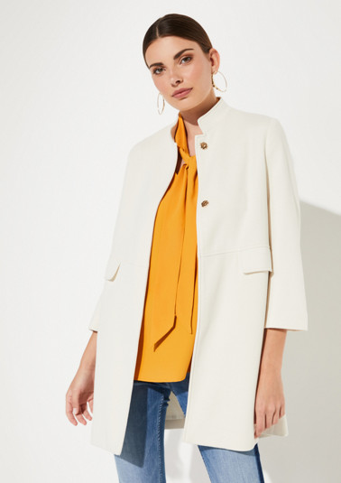 Coat with 3/4-length sleeves from comma