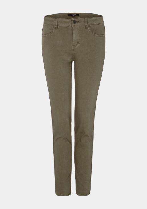 Coloured Denim-Jeans mit glitzernden Seitenstreifen