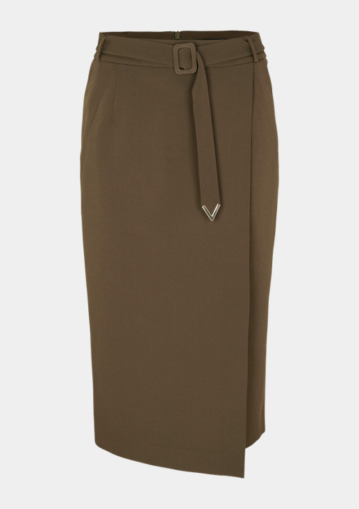 Business skirt with wide fabric belt from comma
