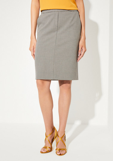 Business skirt with a fine, minimalist pattern from comma