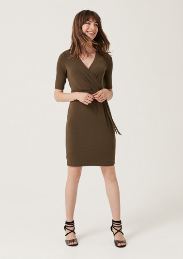 Jersey dress in a wrap-over look from comma