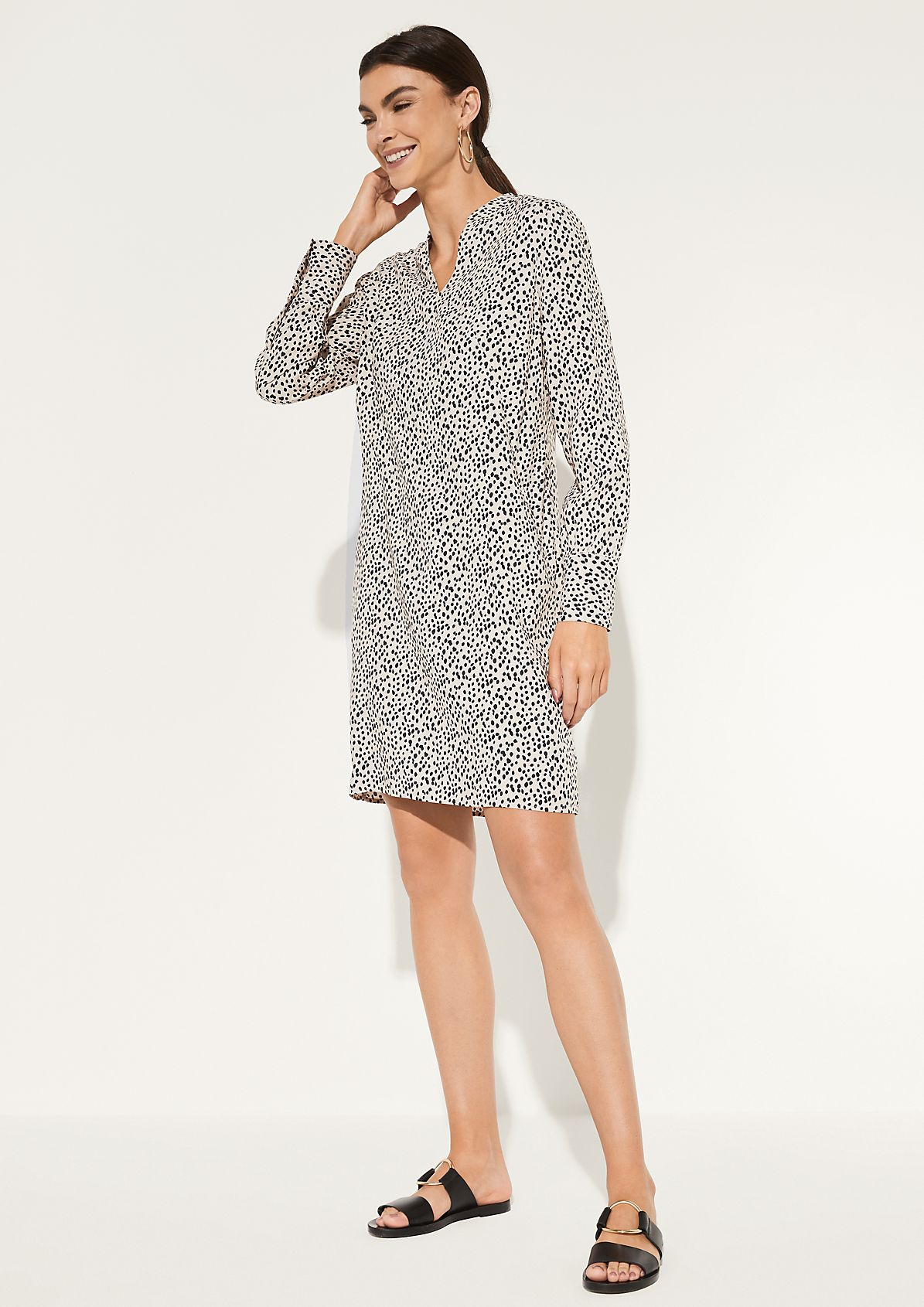 Lightweight summer dress with a decorative all-over pattern from comma