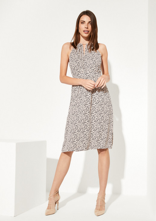 Chiffon dress with a beautiful all-over pattern from comma