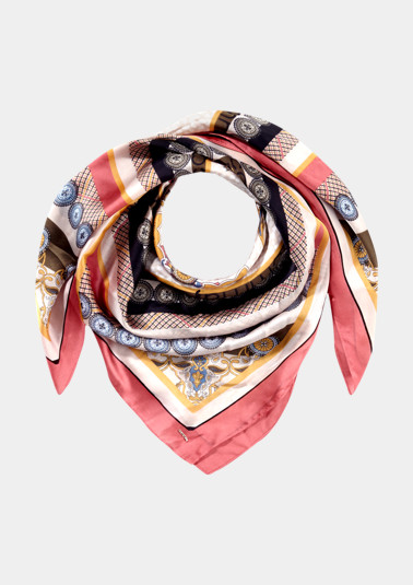 Delicate satin scarf with an exciting pattern from comma