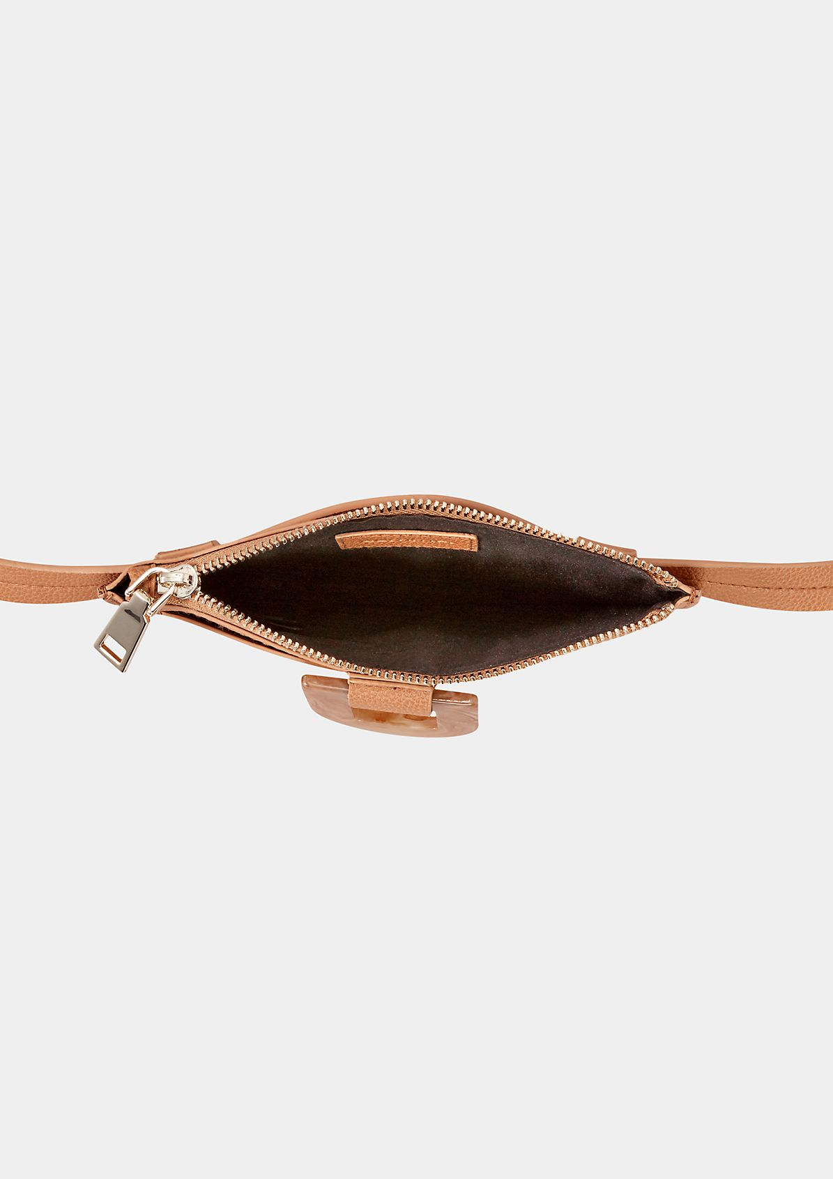Faux leather with a shoulder strap from comma