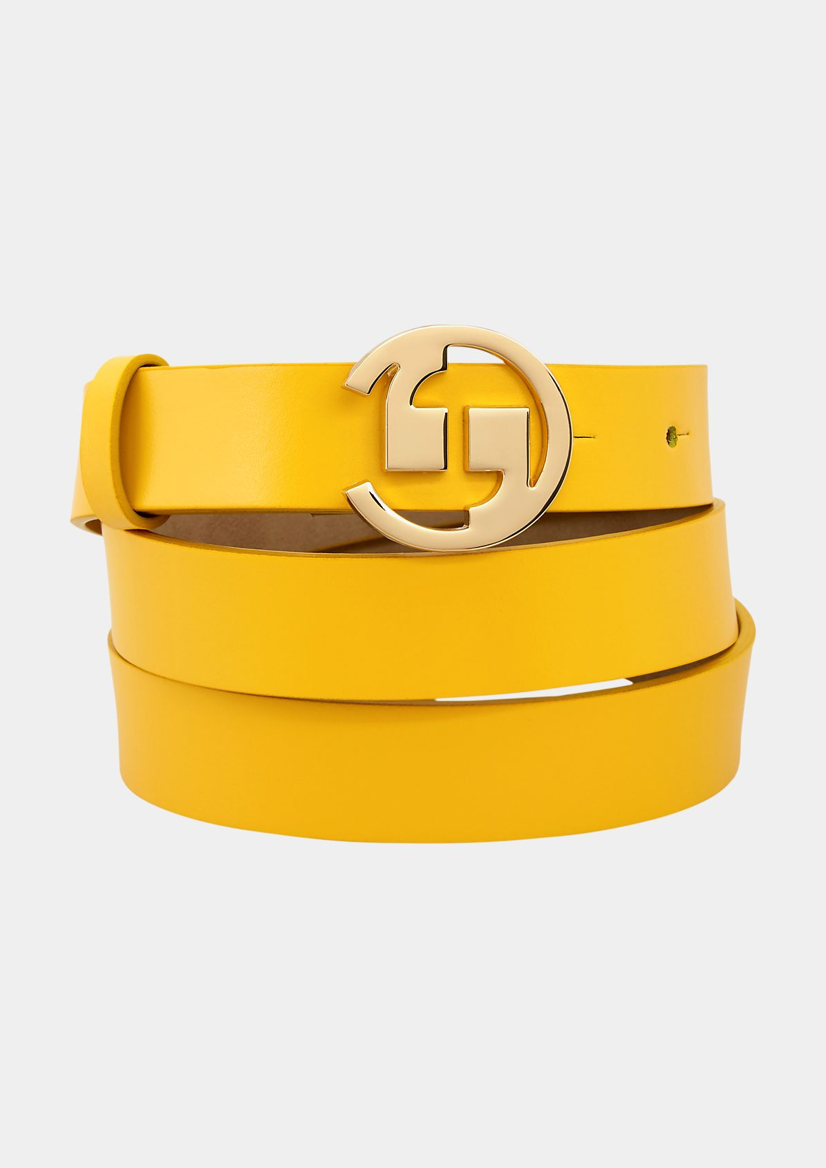 Genuine leather belt from comma