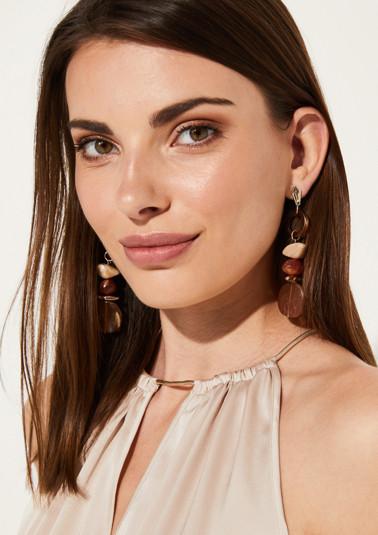Boucles d'oreilles ornées de pierres décoratives de couleurs différentes de Comma