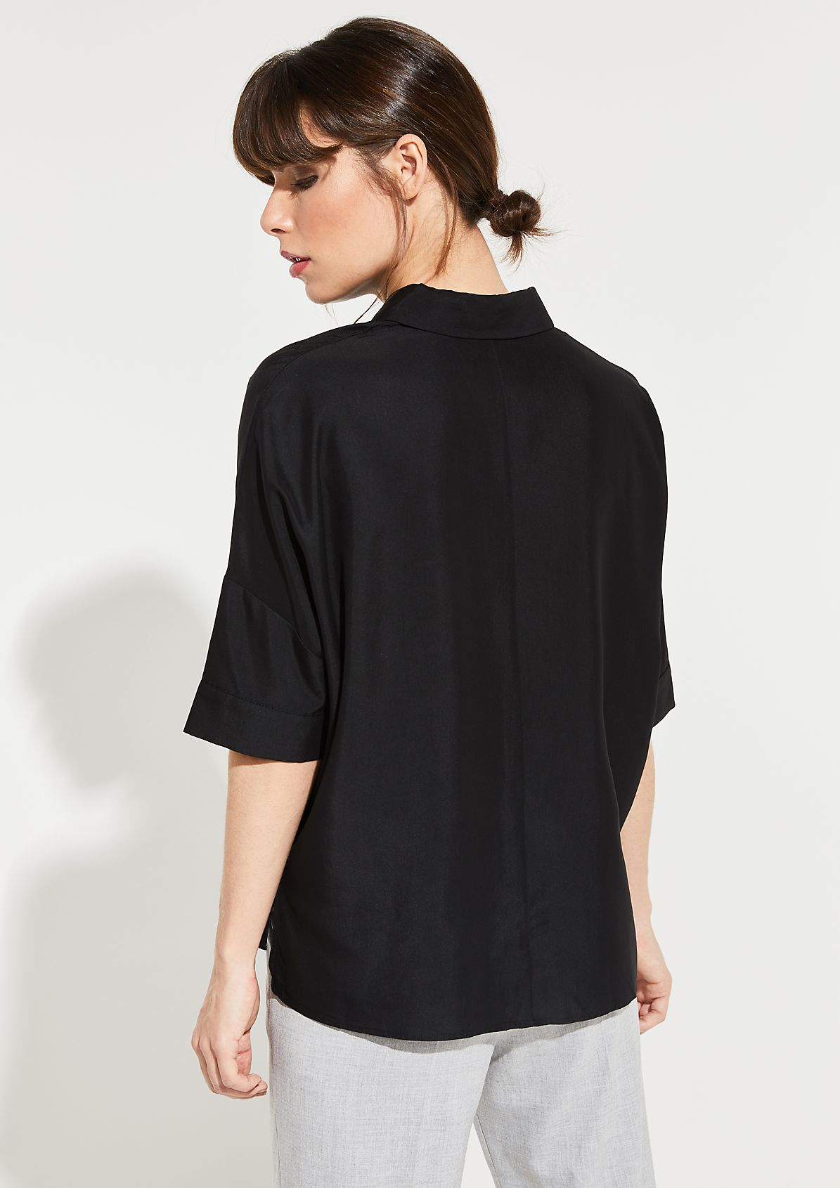 Casual blouse with 3/4-length sleeves from comma