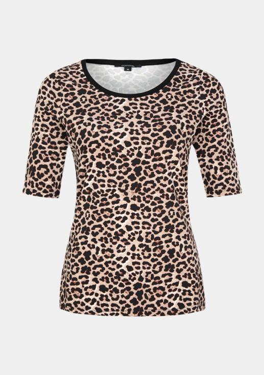 Kurzarm-Jerseyshirt mit Allovermuster