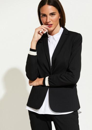 Satin blazer with a fine, minimalist pattern from comma