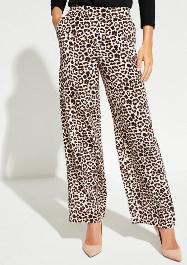 Pantalon détente animé d'un motif léopard original de Comma