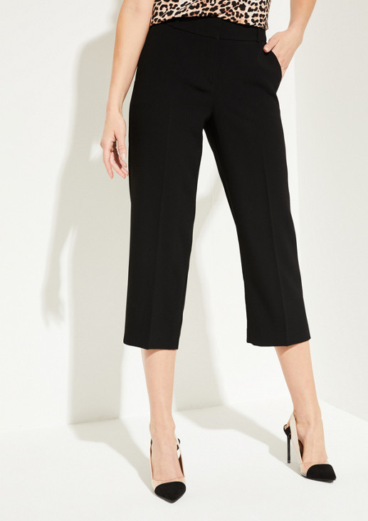 7/8-length business trousers in lightweight crêpe from comma