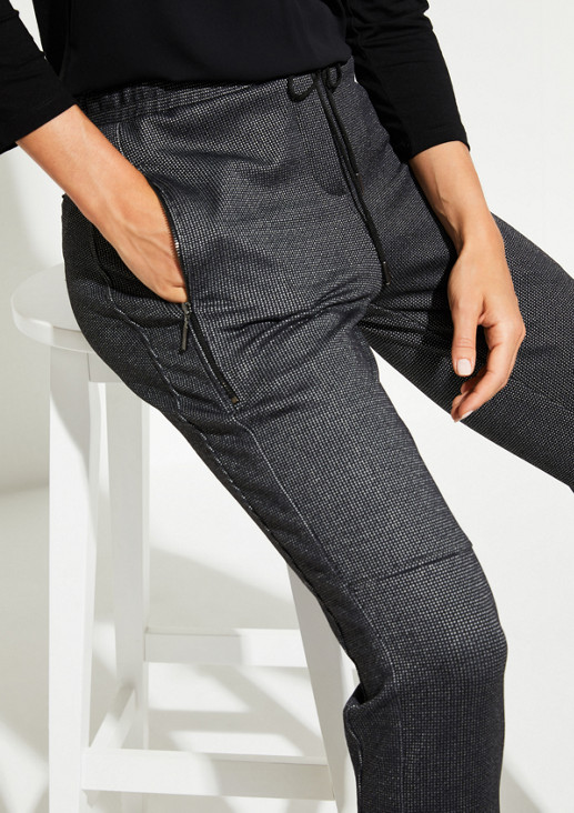 7/8-Loungepants mit aufregendem Minimalmuster