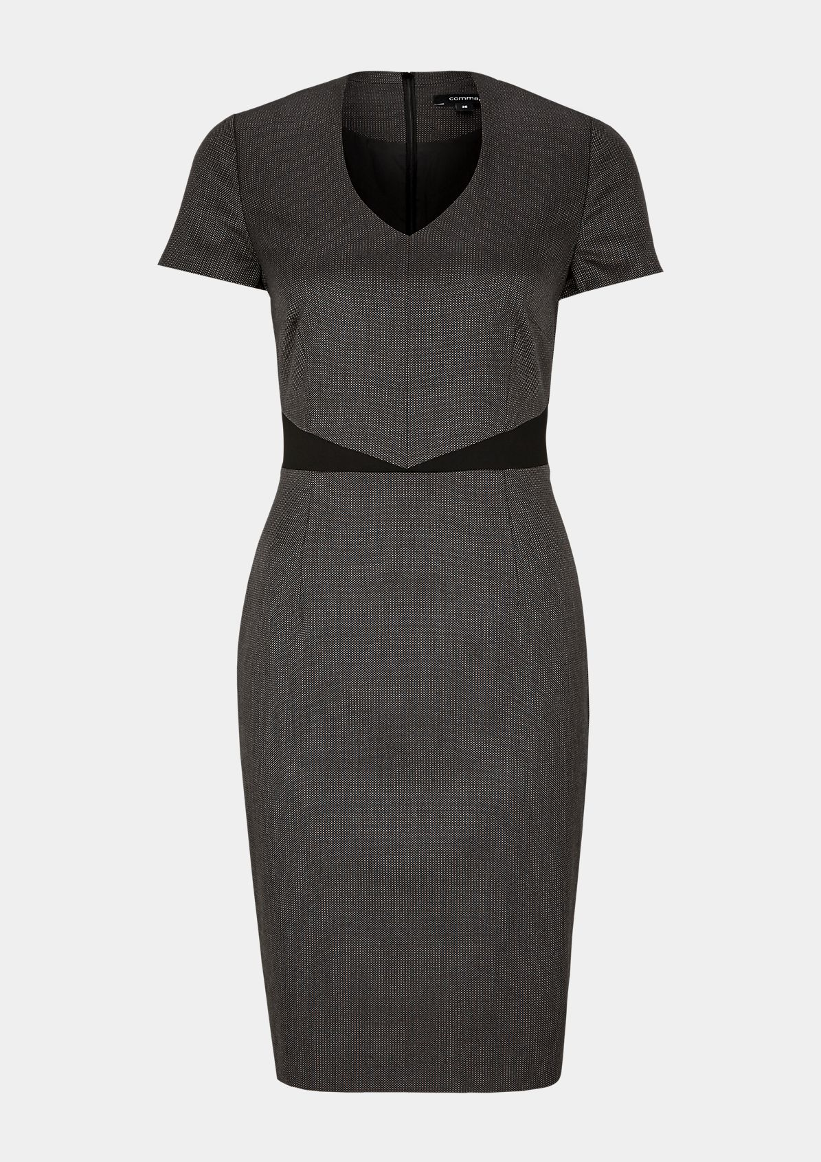 Sheath dress with a smart minimalist pattern from comma