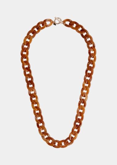 Large chaîne à maillons d'aspect corne de Comma