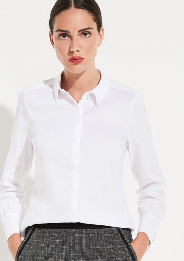 Business blouse with smart details from comma