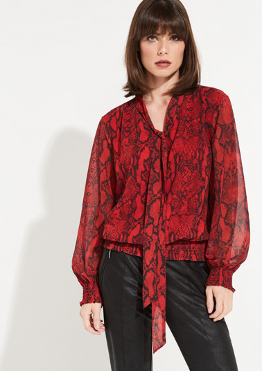 Long sleeve blouse with a decorative snakeskin print from comma