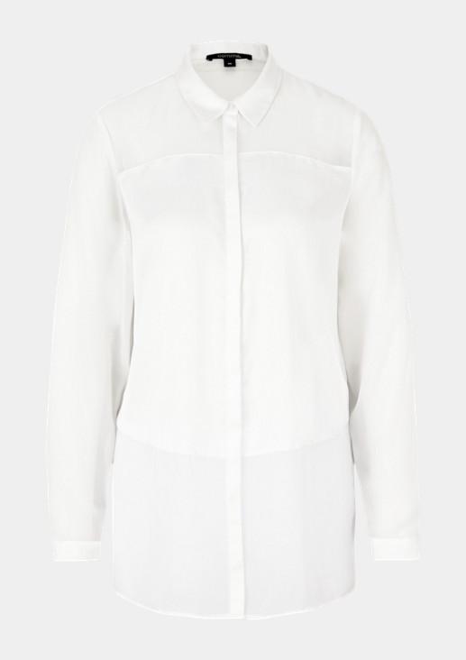 Edle Bluse im raffinierten Materialmix