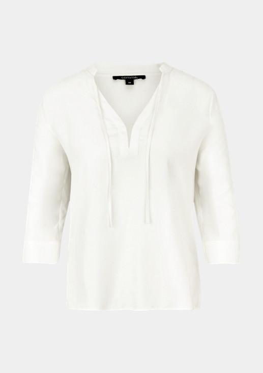 3/4-Arm Bluse mit V-Ausschnitt